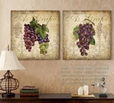 Grape Decor For Kitchen by Grapes Wall Decals Bunch Of Grapes Kitchen Wall Decor Floral Grape