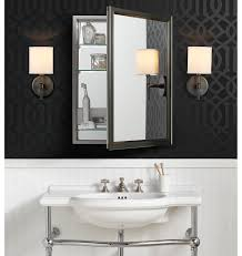 Brushed Nickel Medicine Cabinet With Mirror by Classic Framed Medicine Cabinet With Outlet Brushed Nickel