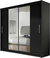 kleiderschrank ii mit spiegel schiebetürenschrank schwebetürenschrank modernes schlafzimmerschrank 180x215x58cm garderobe schlafzimmer