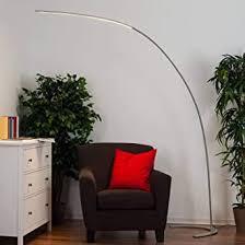 lindby led stehle bogenleuchte danua dimmbar modern in alu aus metall ua für wohnzimmer esszimmer 1 flammig a inkl leuchtmittel