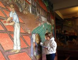 Coit Tower Murals Controversy by City Visions Coit Tower Restored Kalw