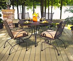 Meadowcraft Patio Furniture Cushions by Wrought Iron Patio Furniture Christy Sports Patio Furniture
