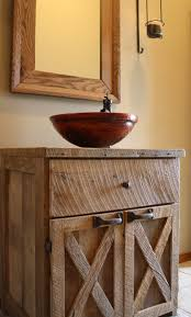 YOUR Custom Rustic Barn Wood Vanity Or Cabinet With 2 Style Doors And Counter