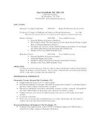 Nutritionist Resume Examples Sample Cover Clinical