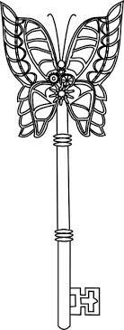 Steampunk Mechanical Butterfly Key