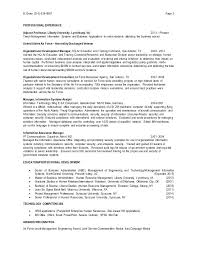 Human Resources Management Resume 2 Resource Example