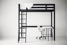 bedroom elegant ikea loft bed with desk group picture image by