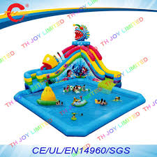Free Air Shippingcommercial Kids Inflatable Water Pool Slide With Giant Float