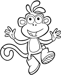 Dora The Explorer Boots Coloring Pages