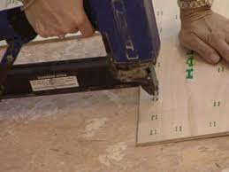 Can You Lay Ceramic Tile Over Linoleum by How To Install Natural Linoleum Flooring How Tos Diy