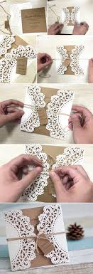 Diy Lace And Burlap Laser Cut Rustic Wedding Invitations For Country Ideas