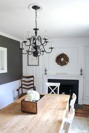 Dining Chandelier An Easy Makeover With Spray Paint In Our Farmhouse Room Drop