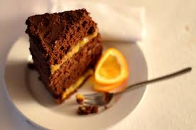 Who says you need an occasion for a fancy cake  Orange praliné