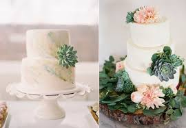 Succulents Wedding Cake Via Inspired By This Braedon Flynn Photography Left Butter End