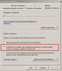 autoriser bureau a distance utiliser une connexion de bureau distant laintimes