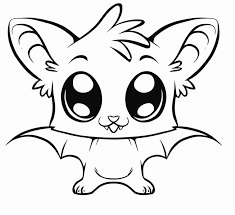 Cute Animal Bat Cartoon Coloring Sheets