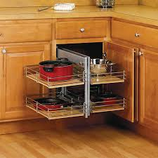 Blind Corner Base Cabinet Organizer by Small Kitchen Space Saving Tips Small Kitchens The Family