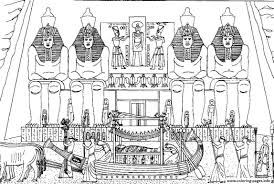 Adult Egypt Funeral Of A Pharaoh Coloring Pages