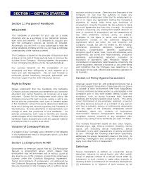 Employees Manual Template Company Process Free Templates Employee Rules Induction Sample Handbook