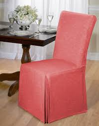LUXURIOUS COTTON DINING CHAIR COVER CHAMBRAY BACK TIE Dining Room Chair Covers Round Top