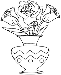 Best Photos Of Bouquet Flowers Coloring Pages