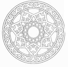 Free Online Coloring Sheet Of Geometric Pattern To Print