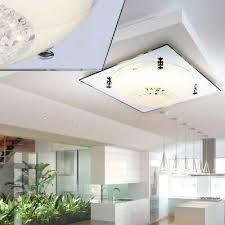 decken led glas kristall wohnzimmer le spiegel rand leuchte beleuchtung
