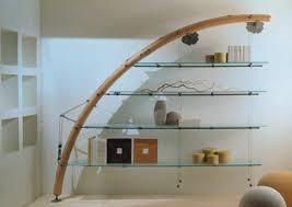 wall mounted shelf original design wooden glass
