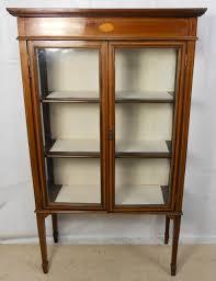 Pulaski Display Cabinet Vitrine by Edwardian Inlaid Mahogany China Display Cabinet Furniture