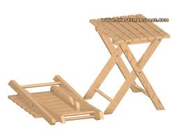 Collapsible Wooden Picnic Table Plans by Stool Plan