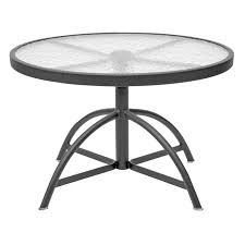 Homecrest Patio Furniture Replacement by Bar Furniture Round Glass Patio Table Shop Patio Tables At