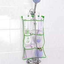 schnell trocknender bad organizer zum aufhängen mit 6 taschen zum aufhängen an duschvorhangstange auskleidungshaken dusch organizer