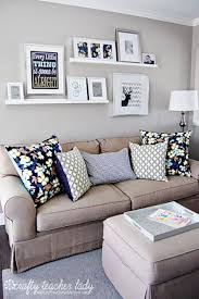 IDEAS For Small Living Spaces Gallery Wall ShelvesShelves Above CouchShelves