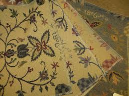 Colonial Print Upholstered Furniture Fabric Theredbrickcottage
