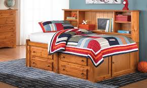 Twin Captains Bed With 6 Drawers by Cheyenne Solid Pine Storage Bed With Bookcase Headboard Haynes