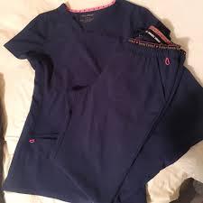 heart soul navy blue scrubs scrub tops scrub life and phlebotomy