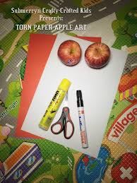 Torn Paper Apple Art For Toddlers
