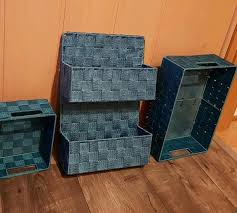 badezimmer aufbewahrungsboxen türkise kisten