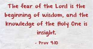 The Fear Of Lord Is