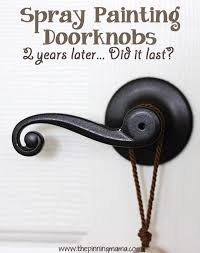 Pin Test} Spray Painting Your Door Knobs • The Pinning Mama