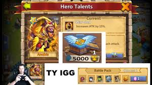 Castle Clash Pumpkin Duke Talent by Jt U0027s Free 2 Play All The Goods For 1 Gem Level 5 Talent Chest