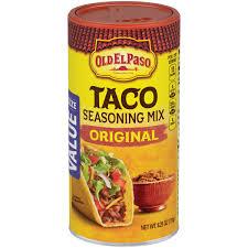 old el paso taco original seasoning 6 25 oz canister walmart com