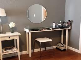 Makeup Vanity Desk With Lighted Mirror by Furniture Mirrored Vanity Desk Swivel Vanity Stool Bed Bath