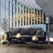 vlies fototapete 3d fenster wald landschaft natur wohnzimmer