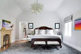 Eclectic Master Bedroom with Cathedral ceiling by Claire Paquin