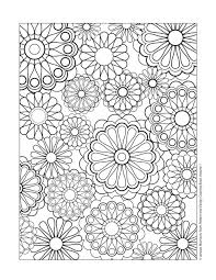 Flower Pattern Coloring Pages Inside