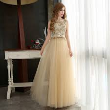online get cheap gold dresses for prom aliexpress com alibaba group