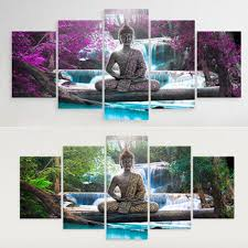 5x Budda Zen Landscape Painting Canvas Print Modern Picture Wall Art Decor Home Unframe