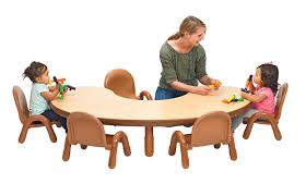 BaseLine® Toddler Kidney Table & Chair Set - Natural Wood ...
