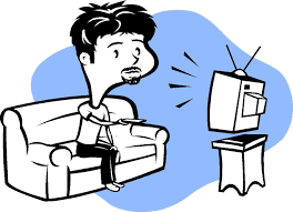 Watching Tv Clipart The News